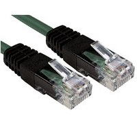 - 2m Green CAT5e Crossover Ethernet Cable