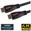 Red LED Light Up Braided HDMI Cable 2m