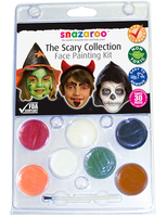 Fancy Dress  - Fancy Dress - Snazaroo The Scary Collection Face Painting Kit