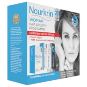 Cosmetics  - Nourkrin Woman Value Pack - Contains 180 Tablets Plus Shampoo and Conditioner (2x150ml)