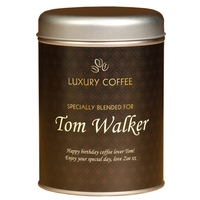 Gifts  - Personalised Coffee Tin - Traditional Design