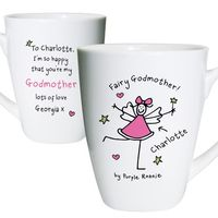 Gifts  - Purple Ronnie Godmother Latte Mug